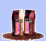Whole Bean and Ground Coffee in bags